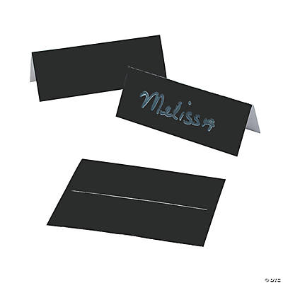 Black Place Cards