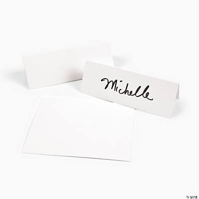 White Place Cards
