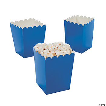 Mini Popcorn Boxes - Blue