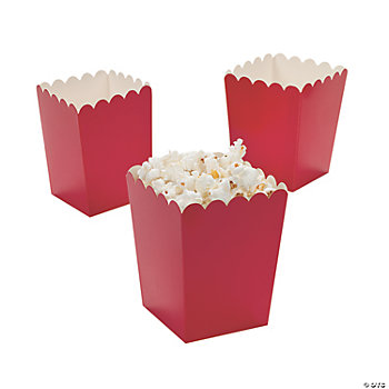 Mini Popcorn Boxes - Red