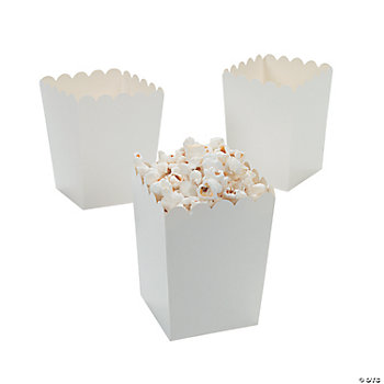 Mini Popcorn Boxes - White