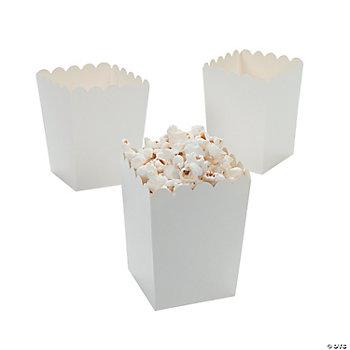 Mini White Popcorn Boxes - Oriental Trading