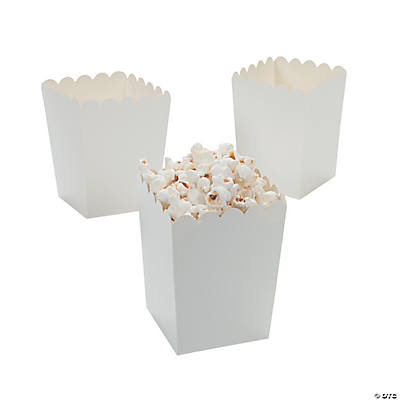 Mini White Popcorn Boxes