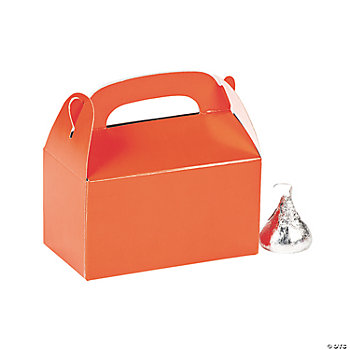 Mini Orange Treat Boxes