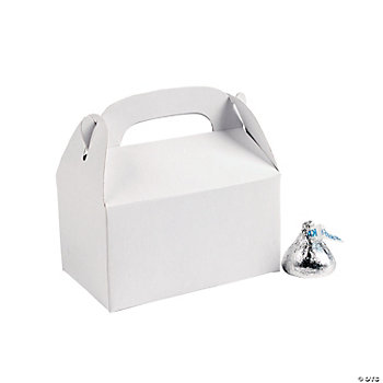 Mini White Treat Boxes
