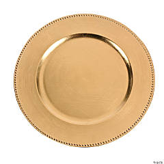 Metallic Gold Charger Platter