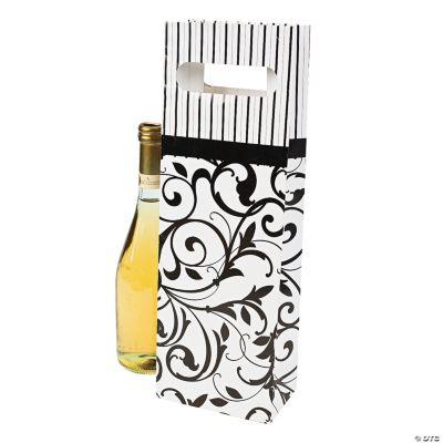 Black & White Wine Bags