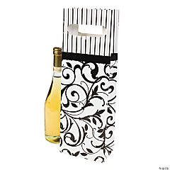 Black & White Wine Bags