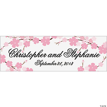 Personalized Cherry Blossom Wedding Banners