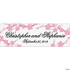 Personalized Medium Cherry Blossom Wedding Banner