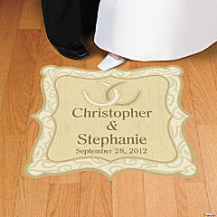Personalized Rustic Western Wedding Floor Cling