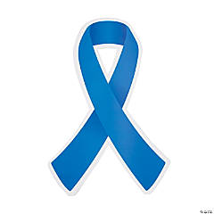 Blue Awareness Ribbon Cutouts