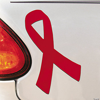 Red Awareness Ribbon Car Magnets