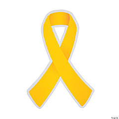 Yellow Awareness Ribbon Cutouts