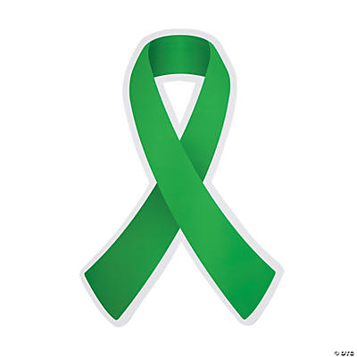 Green Awareness Ribbon Cutouts