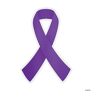 Purple Awareness Ribbon Cutouts