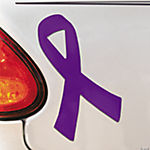 Purple Awareness Ribbon Car Magnets