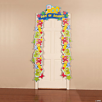 """100th Day Of School"" Door Border"