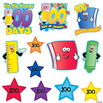 """100th Day Of School"" Wall Cutouts"
