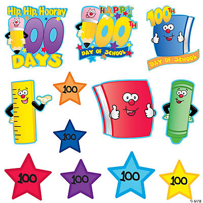 100th Day of School Wall Cutouts