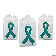 Teal Ribbon Treat Bags