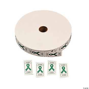 Green Awareness Ribbon Roll Tickets