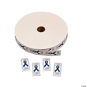 Blue Awareness Ribbon Roll Tickets