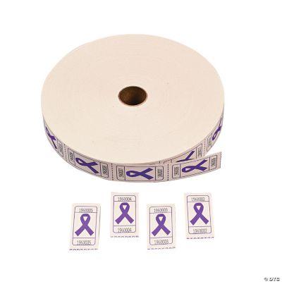 Purple Awareness Ribbon Roll Tickets