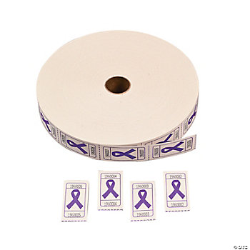 Purple Awareness Ribbon Roll Tickets