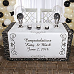 Personalized Black & White Wedding Table Runner