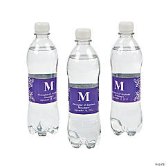 Personalized Purple Monogram Bottle Labels