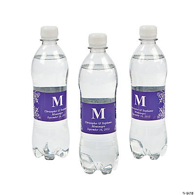 Personalized Monogram Bottle Labels - Purple