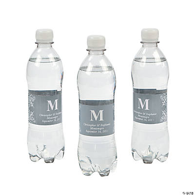 Personalized Monogram Bottle Labels - Silver