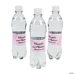 Personalized Cherry Blossom Water Bottle Labels