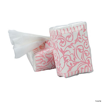 Pink Wedding Facial Tissue Packs