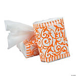 Orange Wedding Facial Tissue Packs