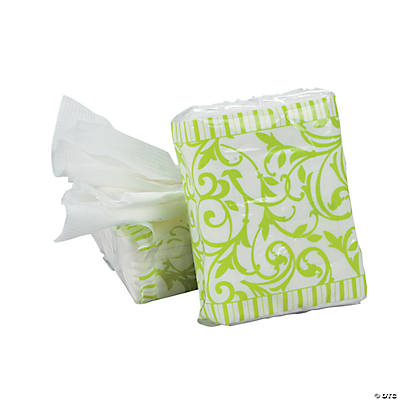 Lime Green Wedding Facial Tissue Packs