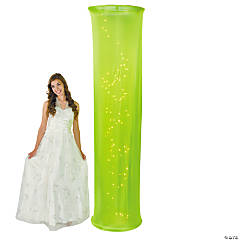 Light-Up Lime Green Fabric Column