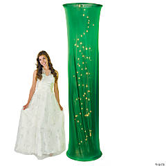 Light-Up Green Fabric Column