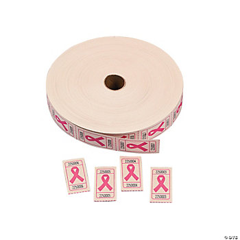 Pink Awareness Ribbon Roll Tickets