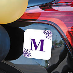 Personalized Purple Monogrammed Car Magnet