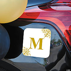 Personalized Gold Monogrammed Car Magnet