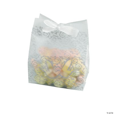 Frosted Silver Wedding Favor Cellophane Bags