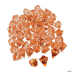 Diamond-Shaped Orange Gems