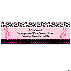 Personalized Sassy Pink Ribbon Banners