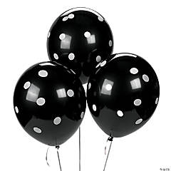 Latex Black Polka Dot Balloons
