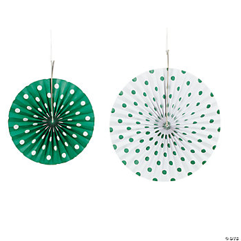 Green Polka Dot Hanging Fans