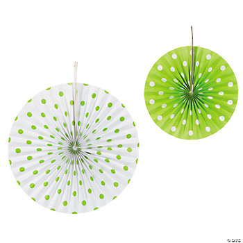 Lime Green Polka Dot Hanging Fans