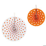 Orange Polka Dot Hanging Fans