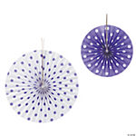 Purple Polka Dot Hanging Fans